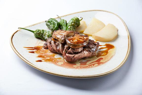 carne con foie